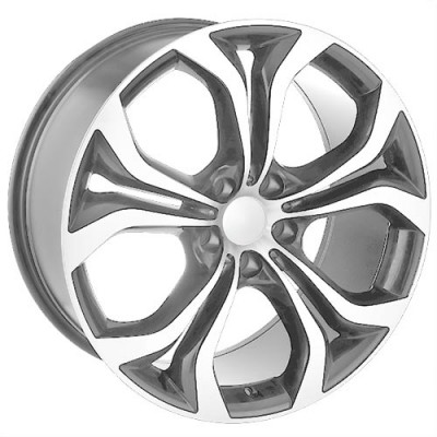 Roue Art Replica Wheels Replica 32, gris gunmetal machine (20X9.5, 5x120, 74.1, déport 45)