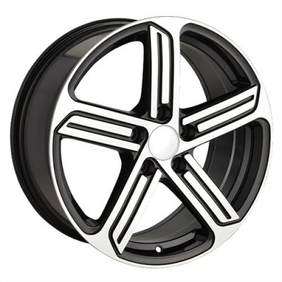 Roue Art Replica Wheels Replica 40, noir lustre machine (17X7.5, 5x112, 57.1, déport 45)