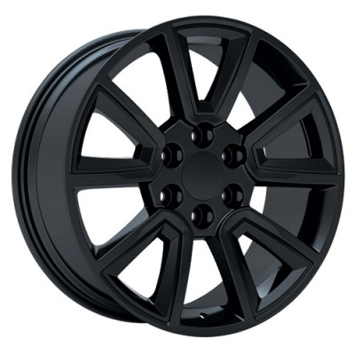 roue Art Replica Wheels Replica 55, noir machine (22X9, 6x139.7, 78.1, déport 30)