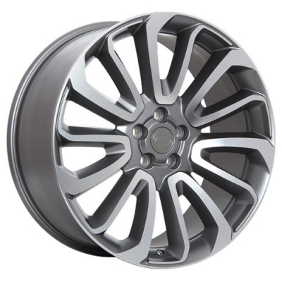 roue Art Replica Wheels R65, gris gunmetal machine (21X9.5, 5x120, 72.6, déport 49)