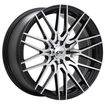 roue Dai Alloys Rebel, noir lustre machine (17X7.5, 5x108/114.3, 73.1, déport 45)