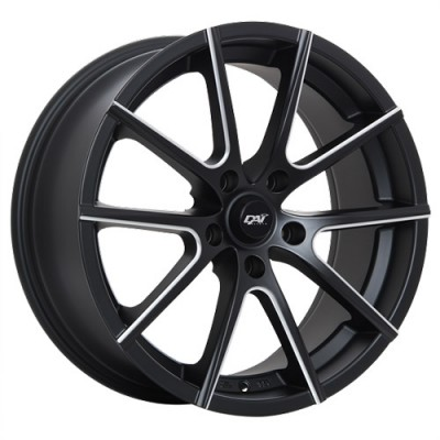 roue Dai Alloys Staar, noir machine (18X8, 5x114.3, 73.1, déport 45)