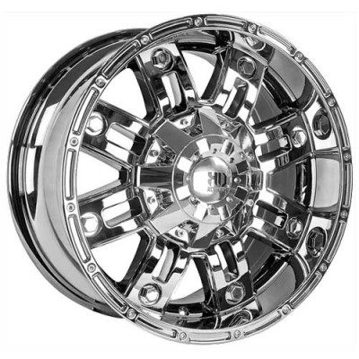 Roue Dai Alloys Traxx, chrome (17X9, 5x127, 71.5, déport 0)