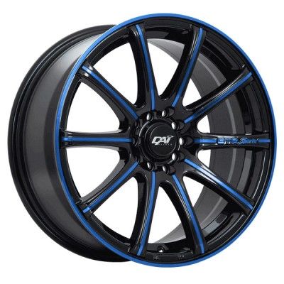 Roue Dai Alloys A-Team, noir lustre (15X6, 4x100, 73.1, déport 42)