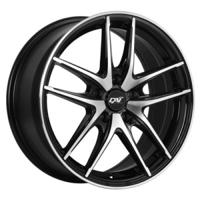 roue DAI Alloys Apex, noir lustre machine (15X6.5, 4x100, 73.1, déport 42)
