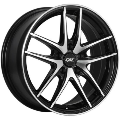 Roue Dai Alloys Apex, noir lustre rebord machine (15X6.5, 4x100, 54.1, déport 40)