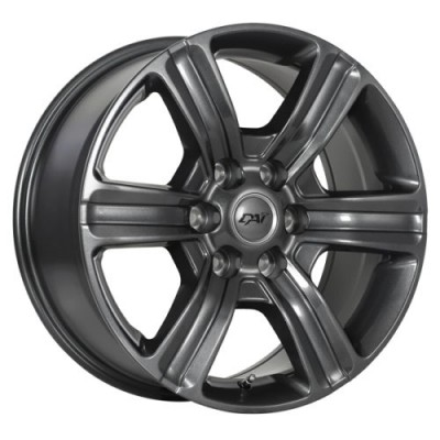 Roue Dai Alloys Force 6, gris gunmetal (18X8.0, 6x120, 67.1, déport 35)