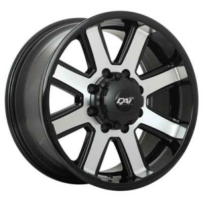 roue DAI Alloys Maxx, noir lustre machine (18X9.0, 8x165.1, 125.2, déport 20)