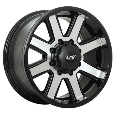 Roue Dai Alloys Maxx, noir machine (20X9, 8x165.1, 125.2, déport 20)