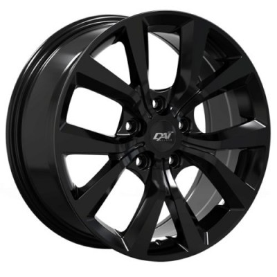 Roue Dai Alloys Mission, noir lustre (17X7.5, 5x110, 65.1, déport 40)