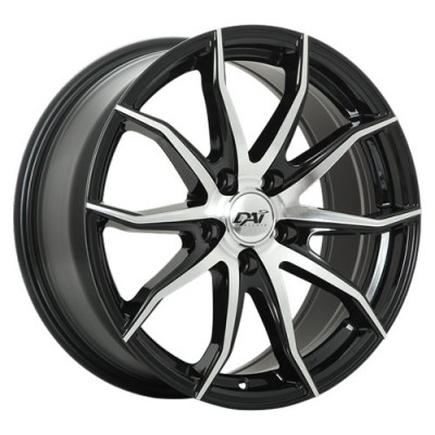 Roue Dai Alloys Paradox, noir machine (17X7.5, 5x114.3, 73.1, déport 42)