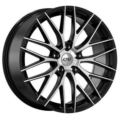 Roue Dai Alloys Rennsport, noir machine (19X9, 5x114.3, 73.1, déport 45)