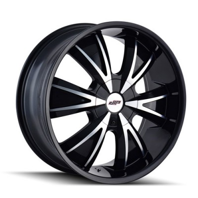 Dip D38 Vibe Machiné Black / Noir Machiné, 18X7.5, 5x100/105 ,(déport/offset 40 ) 72.62