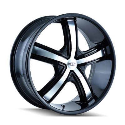 Roue Dip D69 Boost, noir machine (18X7.5, 4x100/114.3, 67.1, déport 40)