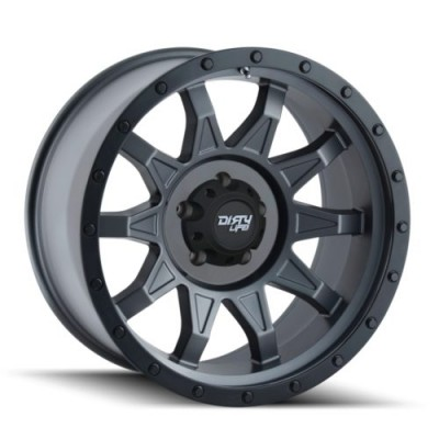roue Dirty Life ROADKILL, gris gunmetal mat (14X7, 4x156, 131.1, déport 13)