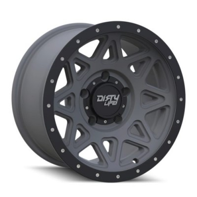roue Dirty Life THEORY, gris gunmetal mat (17X9, 5x127, 78.1, déport -12)