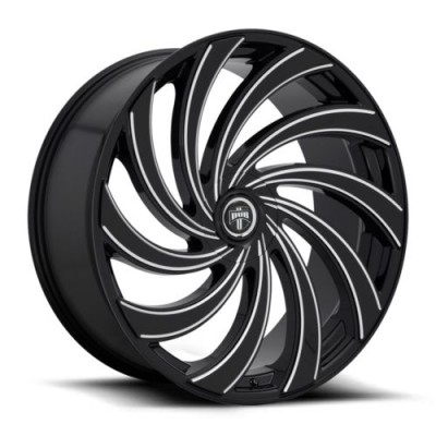 roue DUB Delish S239, noir machine (24X9, 5x114.3/120.7, 72.6, déport 1)