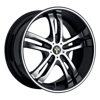 Roue DUB Phase S105, noir machine (18X8, 5x100/114.3, 72.6, déport 40)