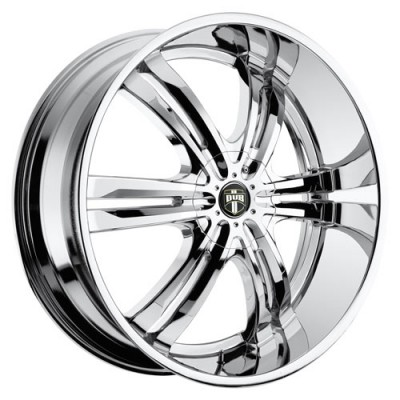 Roue DUB Phase S107, chrome (20X8.5, 5x114.3/120.7, 72.6, déport 10)
