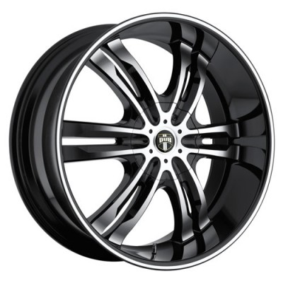 Roue DUB Phase S108, noir machine (20X8.5, 5x114.3/120, 72.6, déport 30)