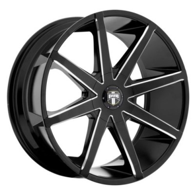roue DUB PUSH S109, noir lustre machine (20X8.5, 5x105/120, 72.6, déport 45)