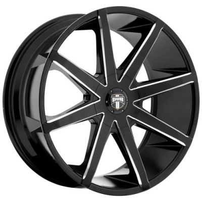 Roue DUB Push S109, noir machine (26X9.5, 5x127/139.7, 78.1, déport 25)