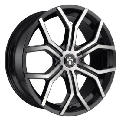 roue DUB Royalty S209, noir mat machine (22X9.5, 5x108/120, 72.6, déport 35)