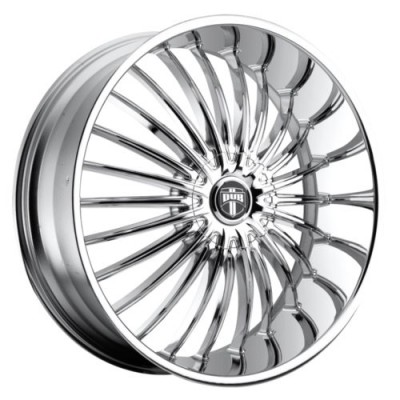 Roue DUB Suave S140, chrome (24X9.5, 5x114.3/120, 72.6, déport 30)