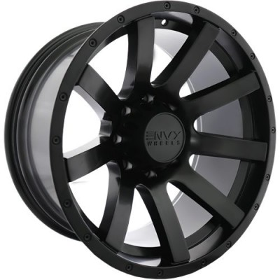 Roue Envy Wheels CRAZE, noir satine (18X9.0, 8x165.1, 121.5, déport 18)