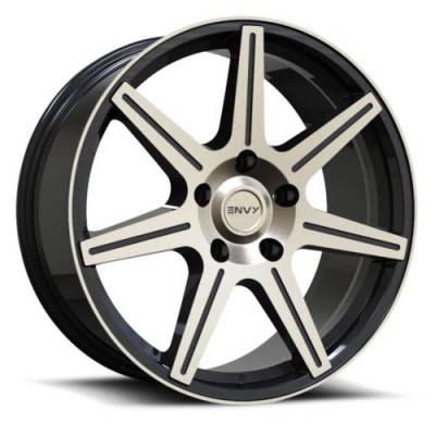 Roue Envy Wheels Elite, noir rebord machine (18X8.0, 5x108, 73.1, déport 40)