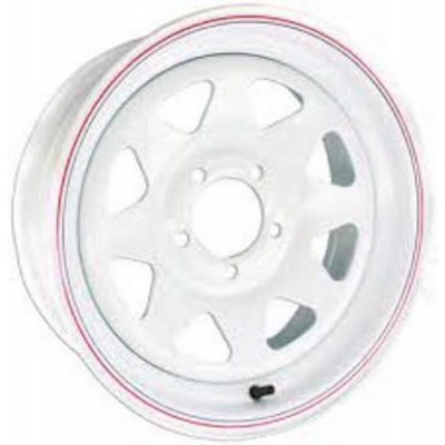 Roue Envy Wheels Trailer Steel, blanc (12X4.0, 5x114.3, 75, déport -3)