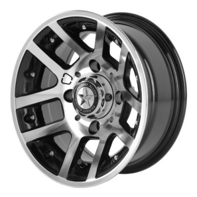 Roue Fairway Alloys FA121 ILLUSION, noir machine (10X7, 4x101.6, 70.70, déport -25)