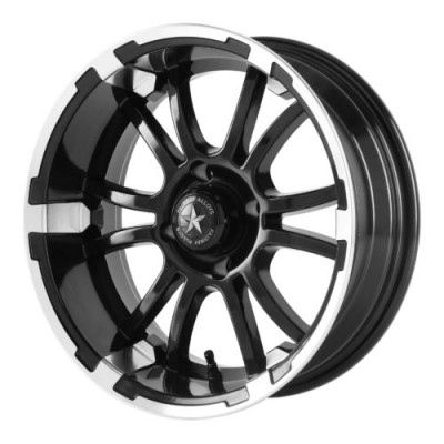 Roue Fairway Alloys FA132 SIXER, noir machine (12X6, 4x101.6, 70.70, déport -20)