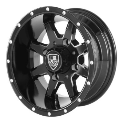 Roue Fairway Alloys FA141 SHIFT, noir machine (10X7, 4x101.6, 70.70, déport -25)