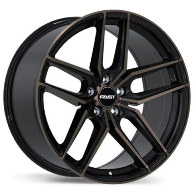 roue Fast Wheels Aristo, noir lustre machine (18X8.5, 5x115, 72.6, déport 30)