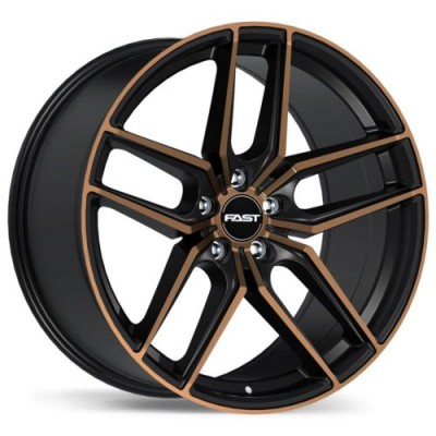 roue Fast Wheels Aristo, noir machine (18X8.5, 5x115, 72.6, déport 30)