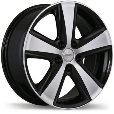 roue Fast Wheels Blaster, noir lustre machine (17X7, 5x112, 66.5, déport 45)