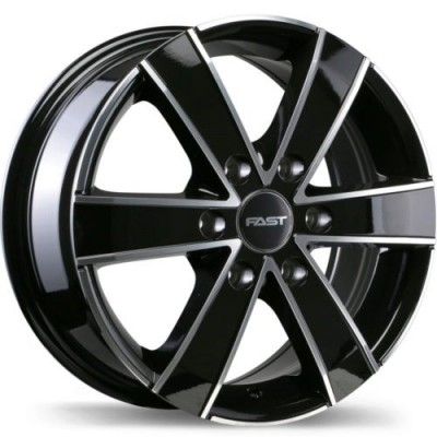 roue Fast Wheels Cargo, noir lustre machine (16X7, 6x130, 84.1, déport 60)