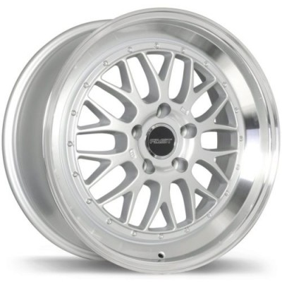 Roue Fast Wheels Cartel, argent rebord machine (18X8.0, 5x120, 72.6, déport 35)