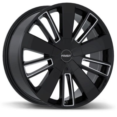 roue Fast Wheels Entourage, noir lustre machine (18X8.0, 6x120/132, 78.1, déport 40)