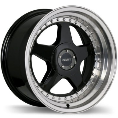 roue Fast Wheels Kimura, noir lustre machine (17X7.5, 5x120, 72.6, déport 25)