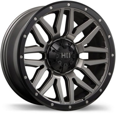 roue Fast Wheels Menace, gris gunmetal machine (17X8.0, 8x165.1, 121.1, déport 15)