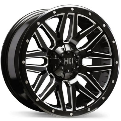 roue Fast Wheels Menace, noir machine (17X8.0, 8x165.1, 121.1, déport 15)