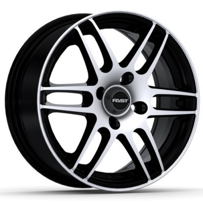 roue Fast Wheels Metro, noir lustre machine (14X6, 4x100, 72.6, déport 40)