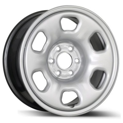 roue Fast Wheels Premium Euro Steel Wheel, argent (16X6.5, 5x114.3, 64.1, déport 45)