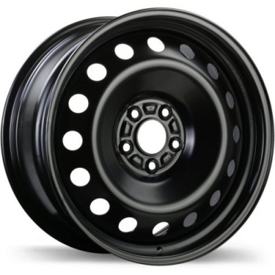 roue Fast Wheels Premium Euro Steel Wheel, noir (16X6.5, 5x110, 65.1, déport 40)