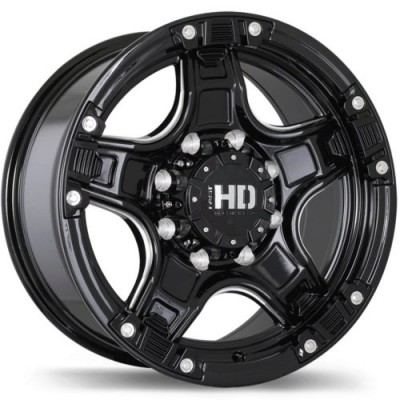 roue Fast Wheels Rampage, noir lustre machine (17X9, 5x135, 87.1, déport -13)