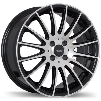 roue Fast Wheels Rival, noir lustre machine (16X7, 5x114.3, 73, déport 45)