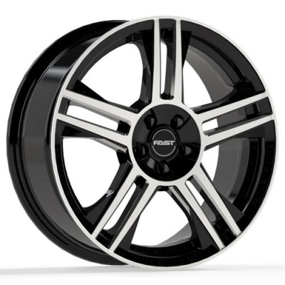 roue Fast Wheels Shadow, noir lustre machine (16X7, 5x100/114.3, 72.6, déport 35)