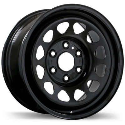 roue Fast Wheels Steel Wheel, noir (15X6.0, 5x114.3, 67.1, déport 46)